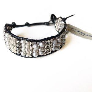 LUCKY BRAND Beaded Leather Wrap Bracelet NWT